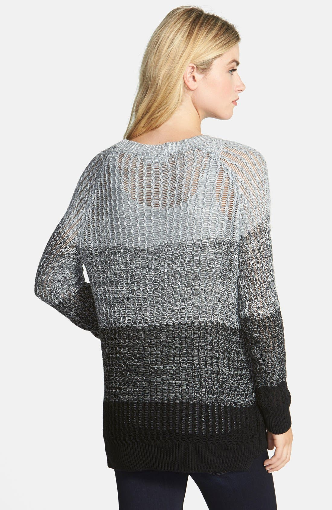 Alternate Image 2  - Two by Vince Camuto Ombré Stripe Shaker Sweater