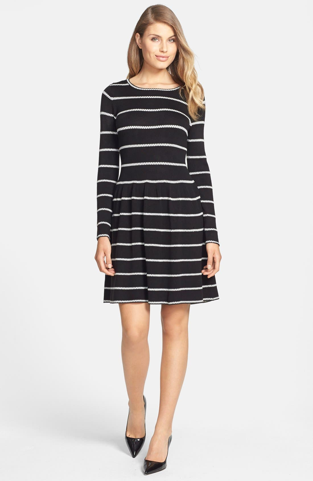 Alternate Image 3  - Eliza J Knit Fit & Flare Dress