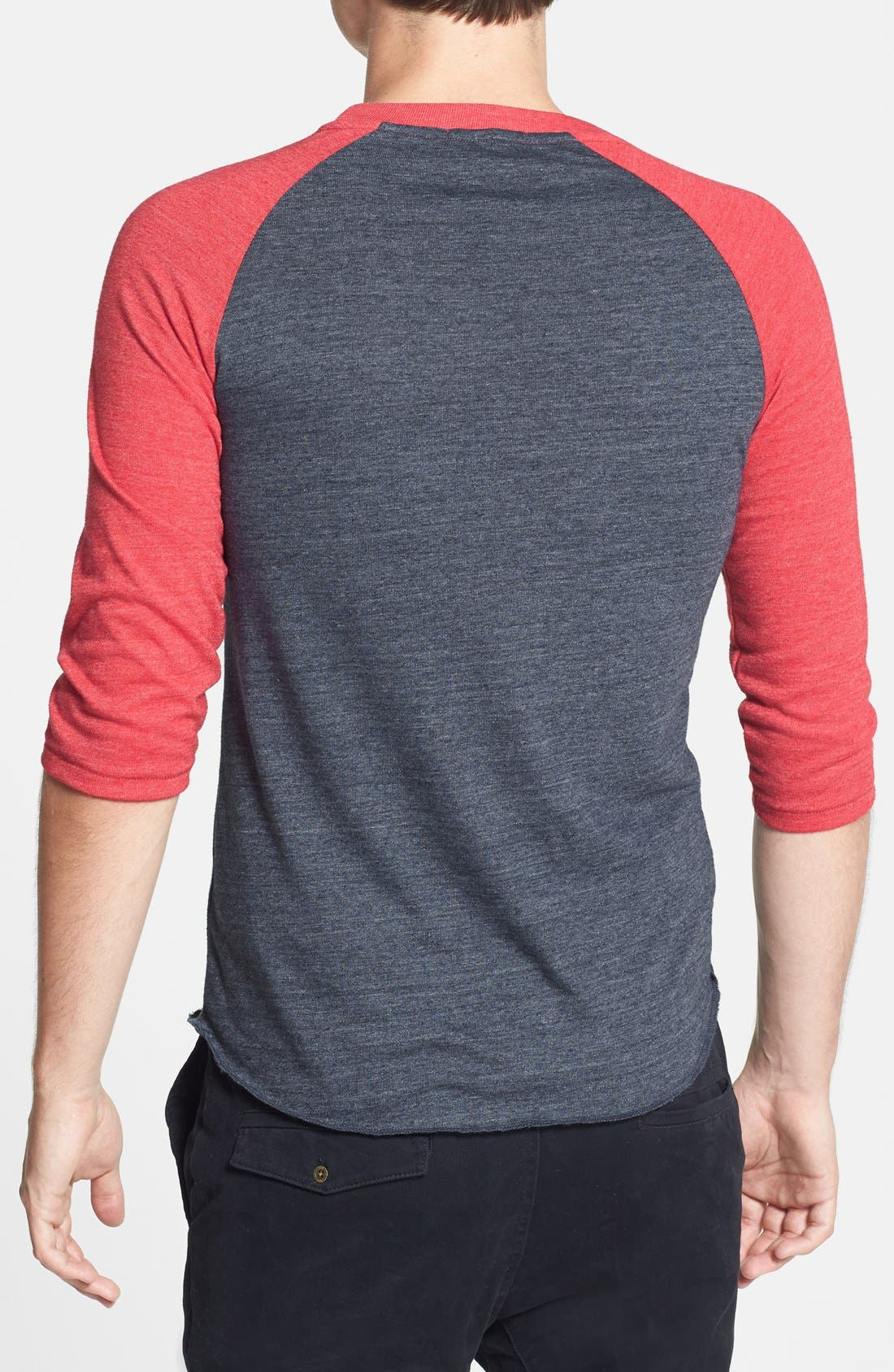 Alternate Image 2  - Alternative Raglan Baseball T-Shirt