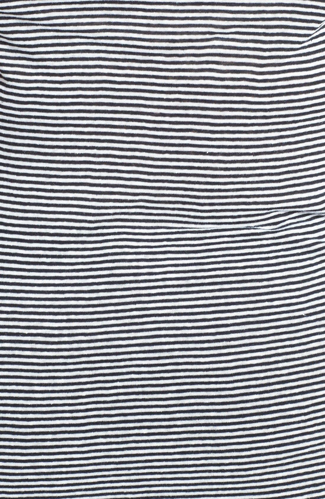 Alternate Image 3  - Eileen Fisher Stripe Organic Linen Long Tank (Plus Size)