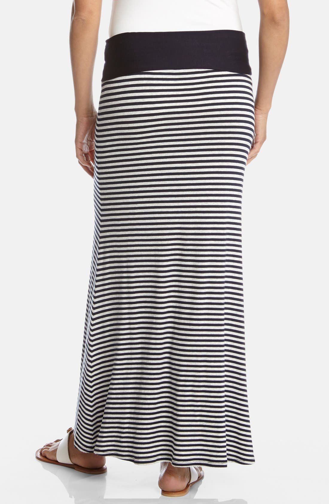 Alternate Image 2  - Karen Kane Contrast Waist Stripe Maxi Skirt