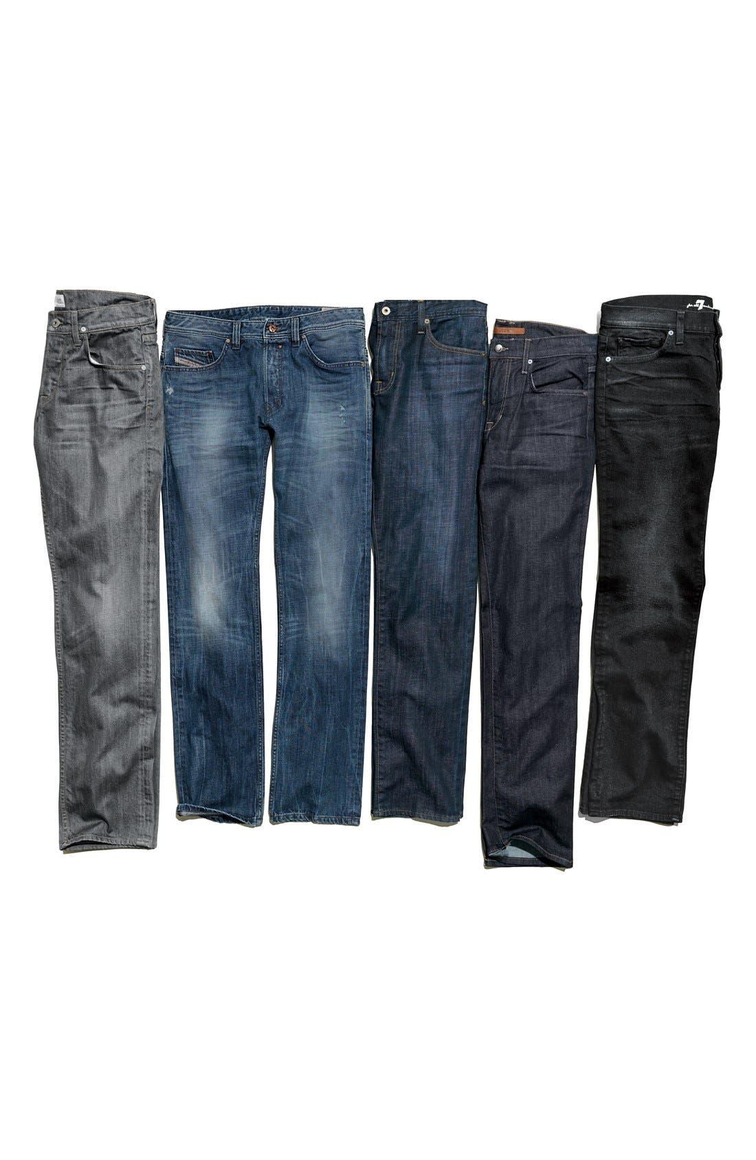 Alternate Image 5  - Hudson Jeans 'Byron' Straight Leg Jeans (Grey Rider)