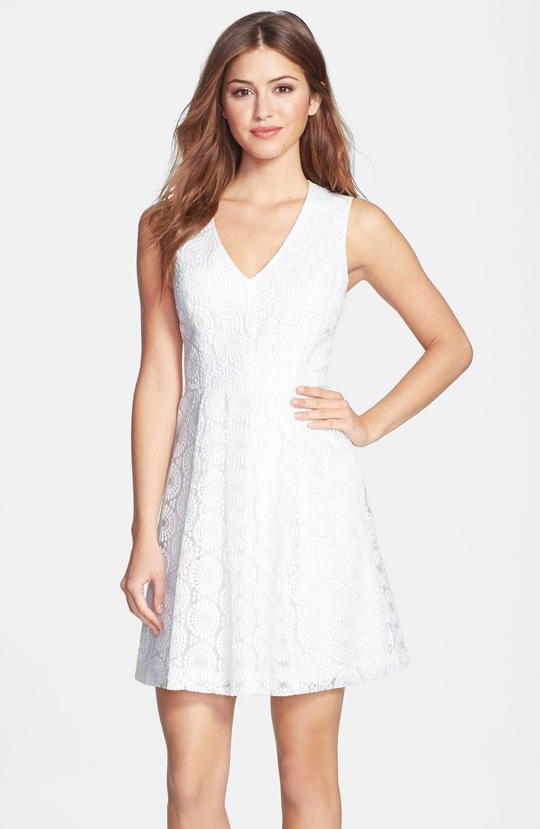 Alternate Image 1 Selected - Plenty by Tracy Reese 'Ashley' Lace Fit & Flare Dress (Petite)