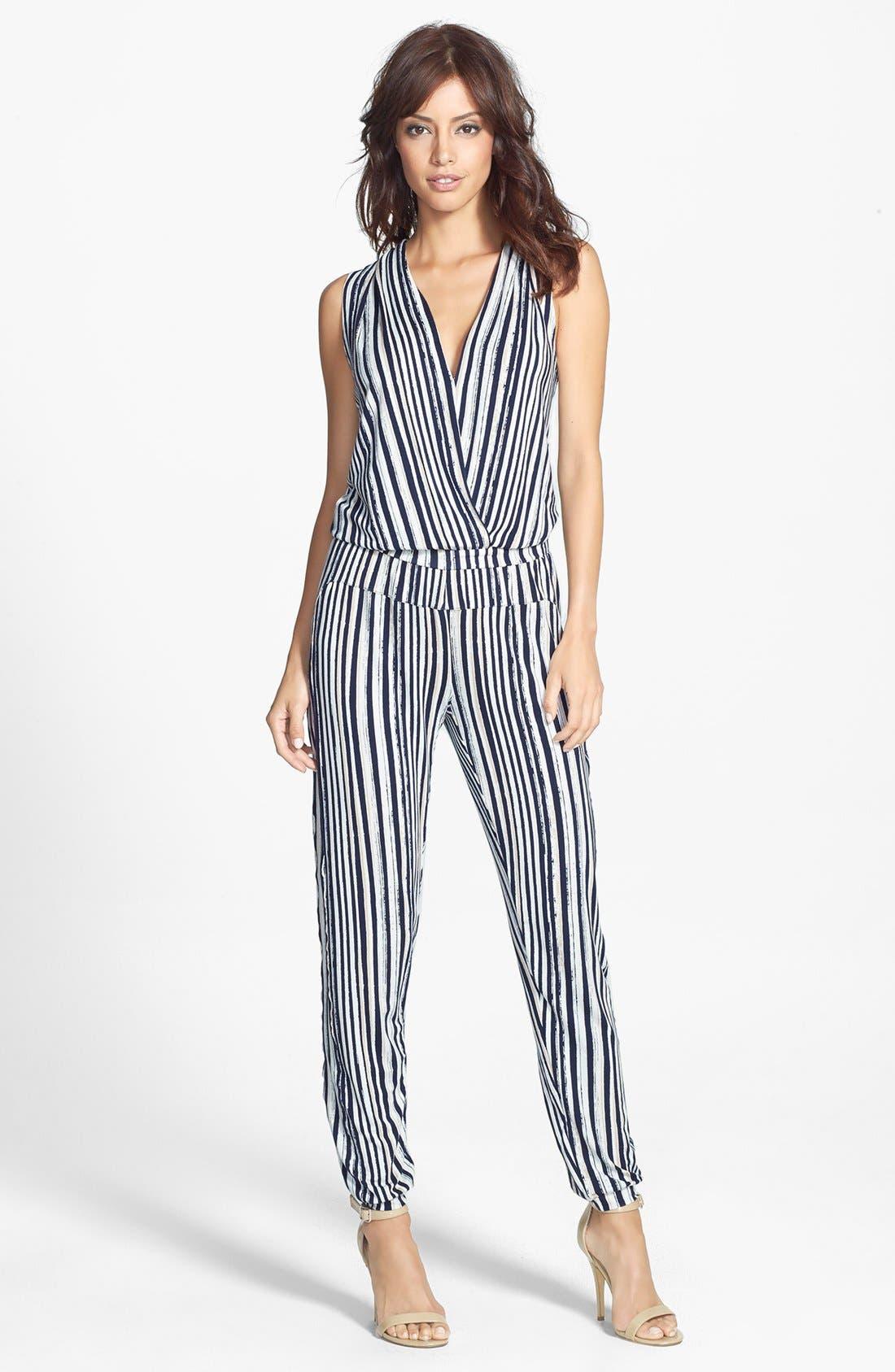 Alternate Image 1 Selected - Tart 'Harli' Stripe Surplice Jumpsuit