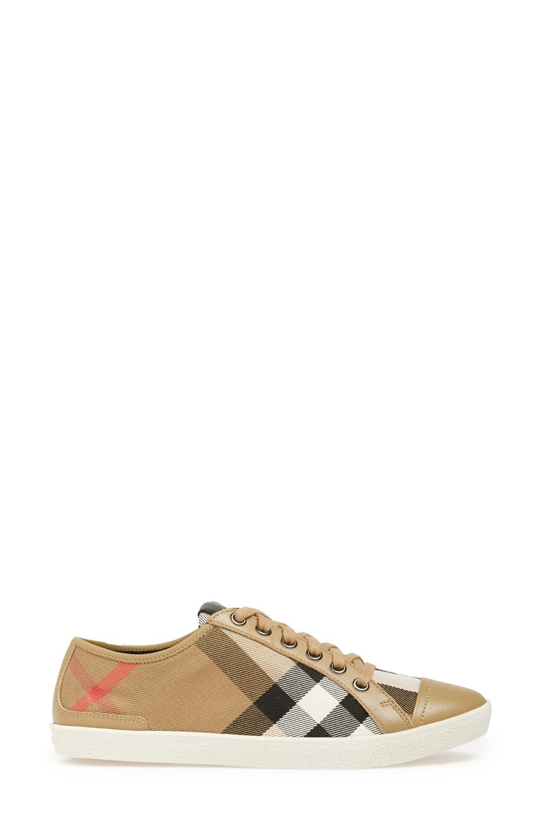 Alternate Image 4  - Burberry Check Print Sneaker (Women)