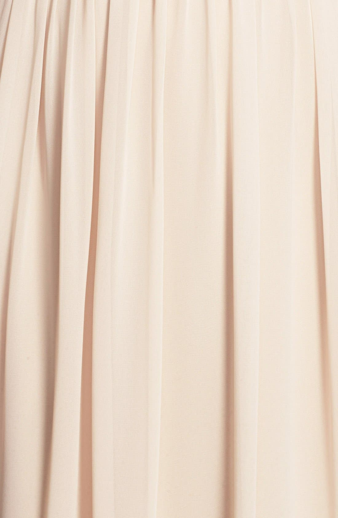 Alternate Image 3  - Monique Lhuillier Bridesmaids Strapless Ruched Chiffon Sweetheart Gown