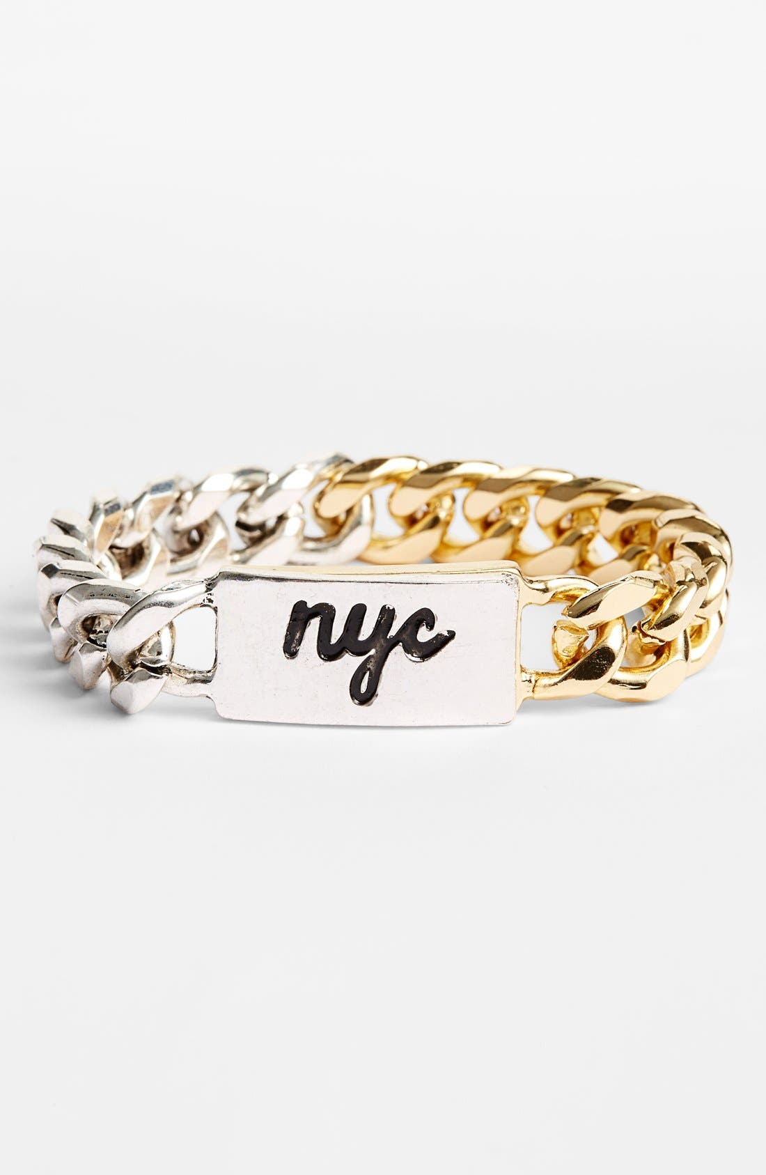 Main Image - BCBGeneration 'New York City' Chain Link Bracelet