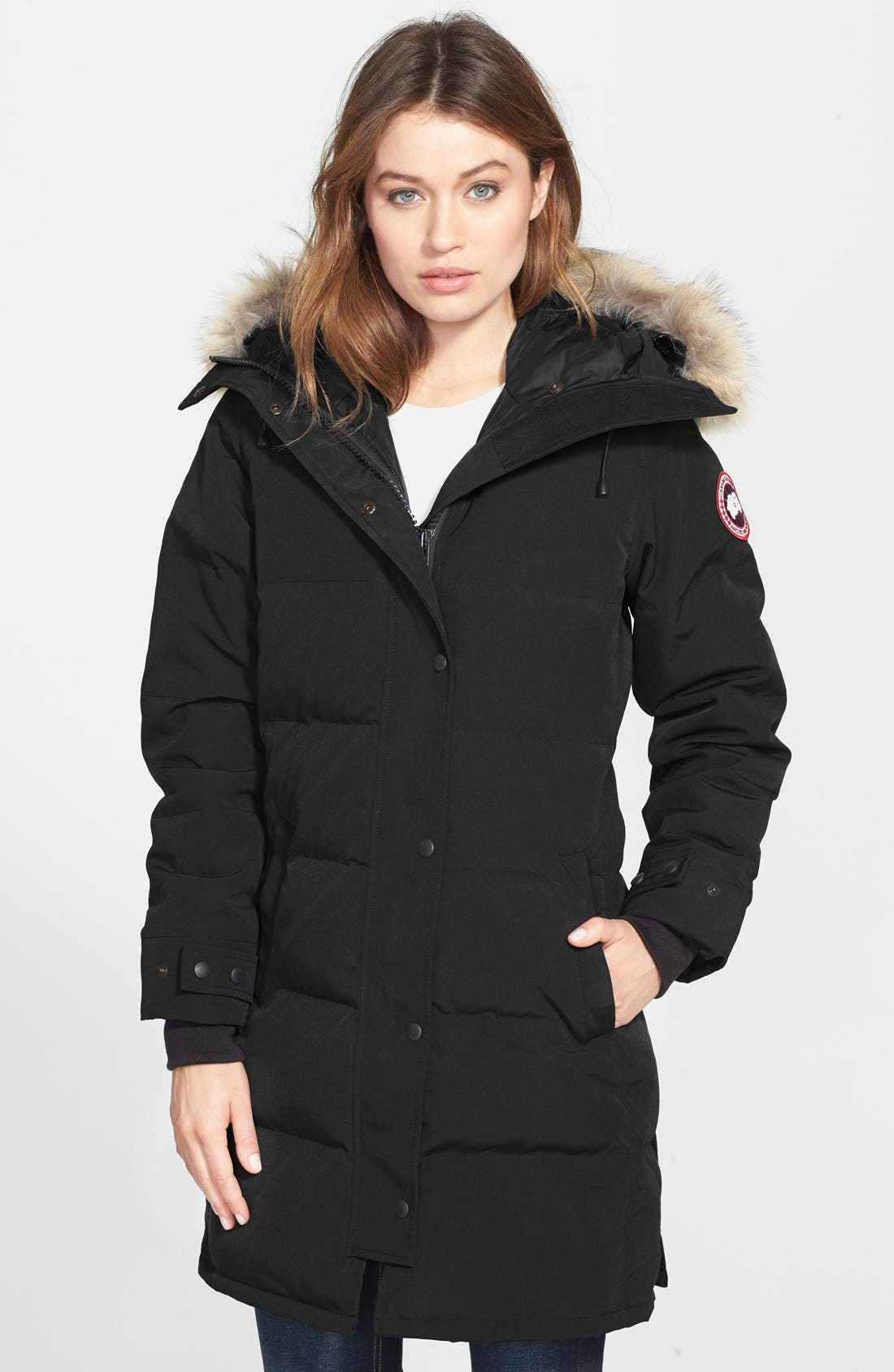 Canada Goose Shelburne Genuine Coyote Fur Trim Down Parka | Nordstrom