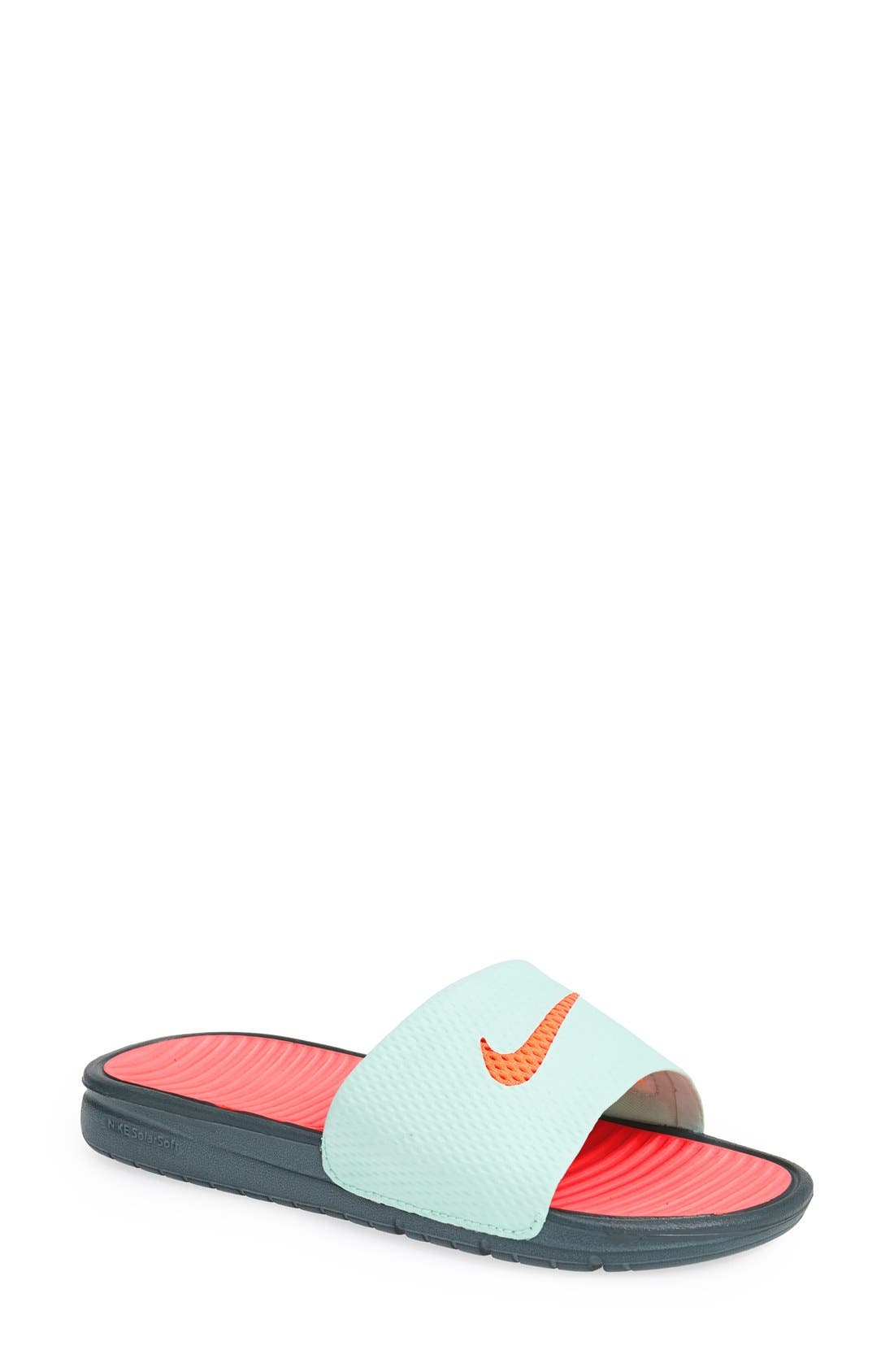 Alternate Image 1 Selected - Nike 'Benassi - Solarsoft' Slide Sandal (Women)