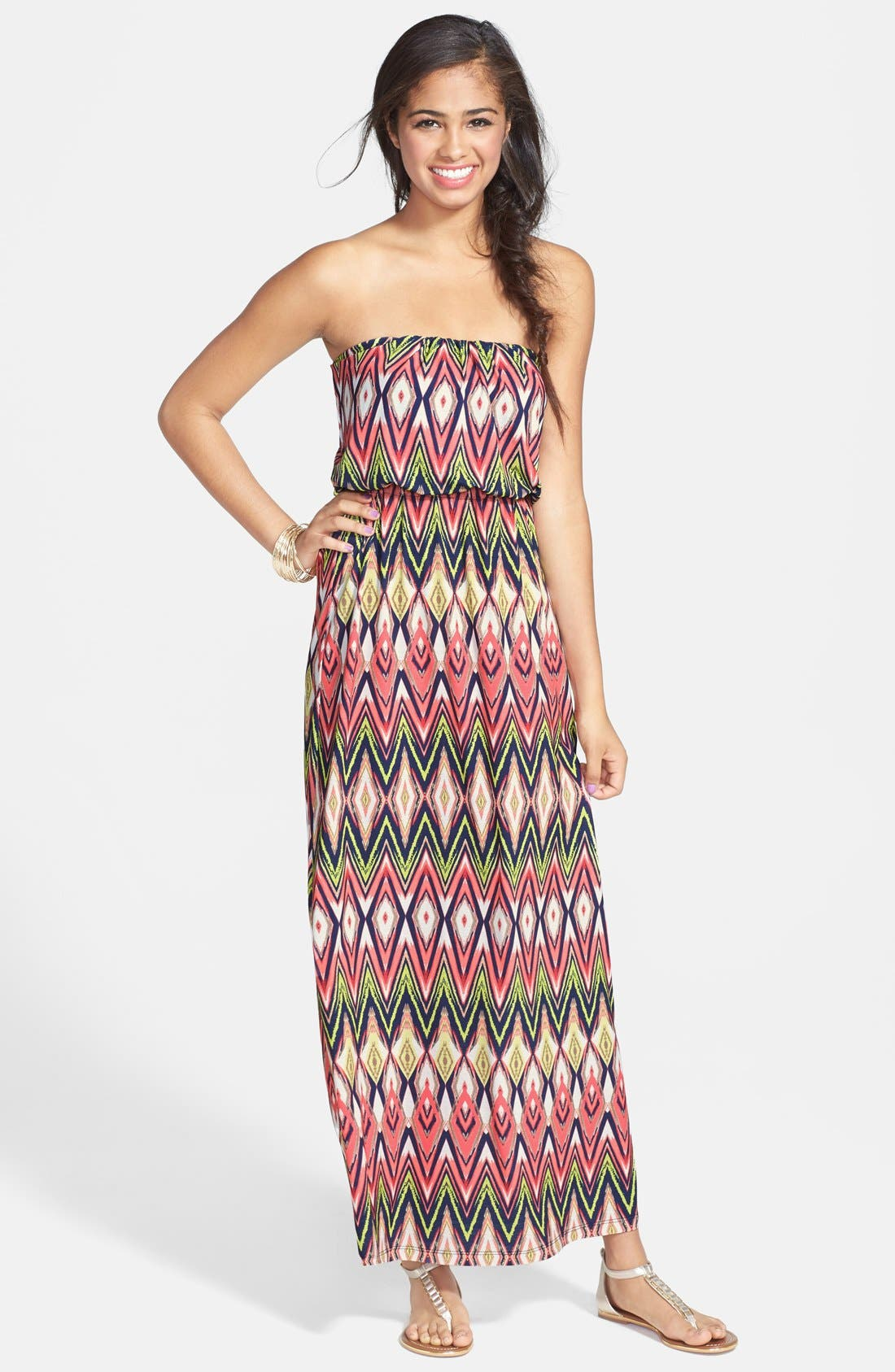 Alternate Image 1 Selected - Trixxi Tube Maxi Dress (Juniors)