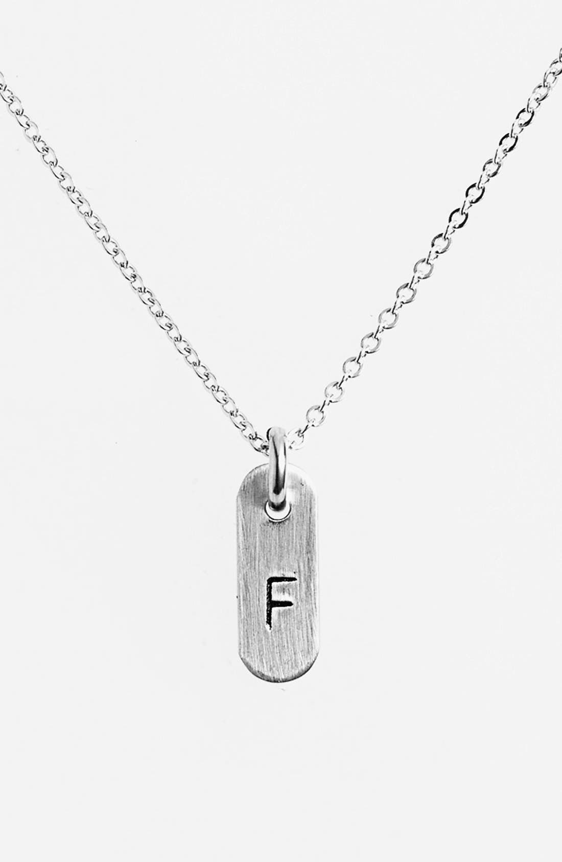 Main Image - Nashelle Sterling Silver Initial Mini Bar Necklace