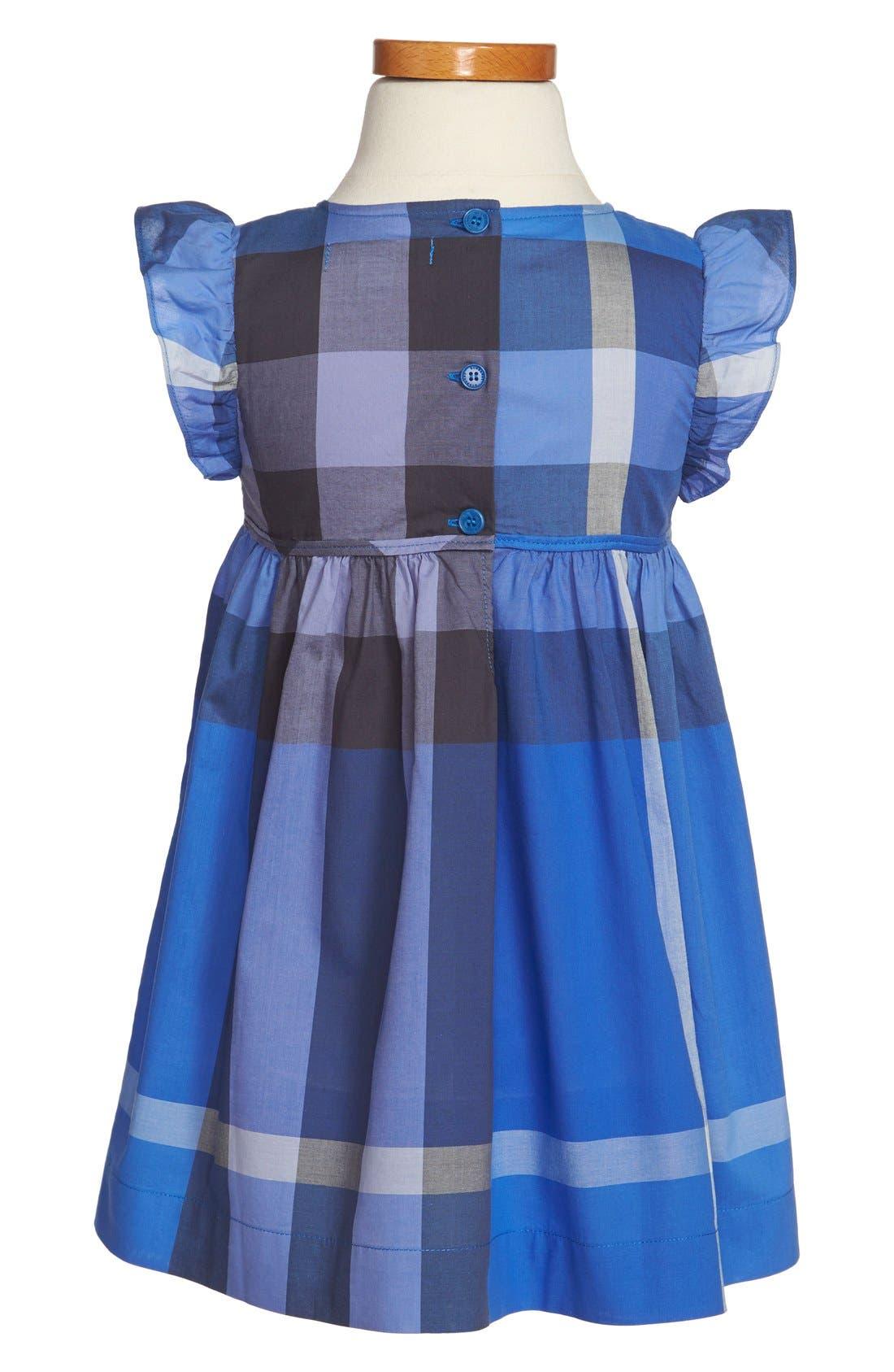 Alternate Image 2  - Burberry Flutter Sleeve Dress (Toddler Girls)