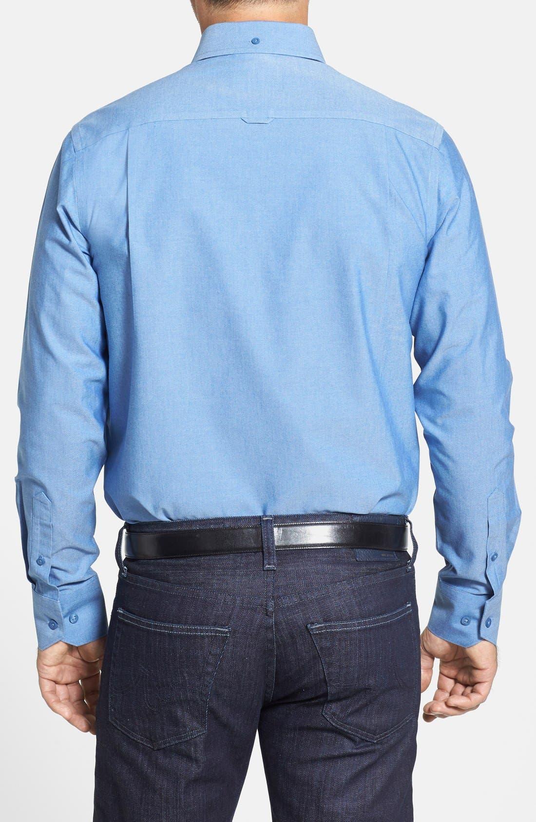 Alternate Image 2  - Nordstrom Men's Shop Smartcare™ Regular Fit Oxford Sport Shirt