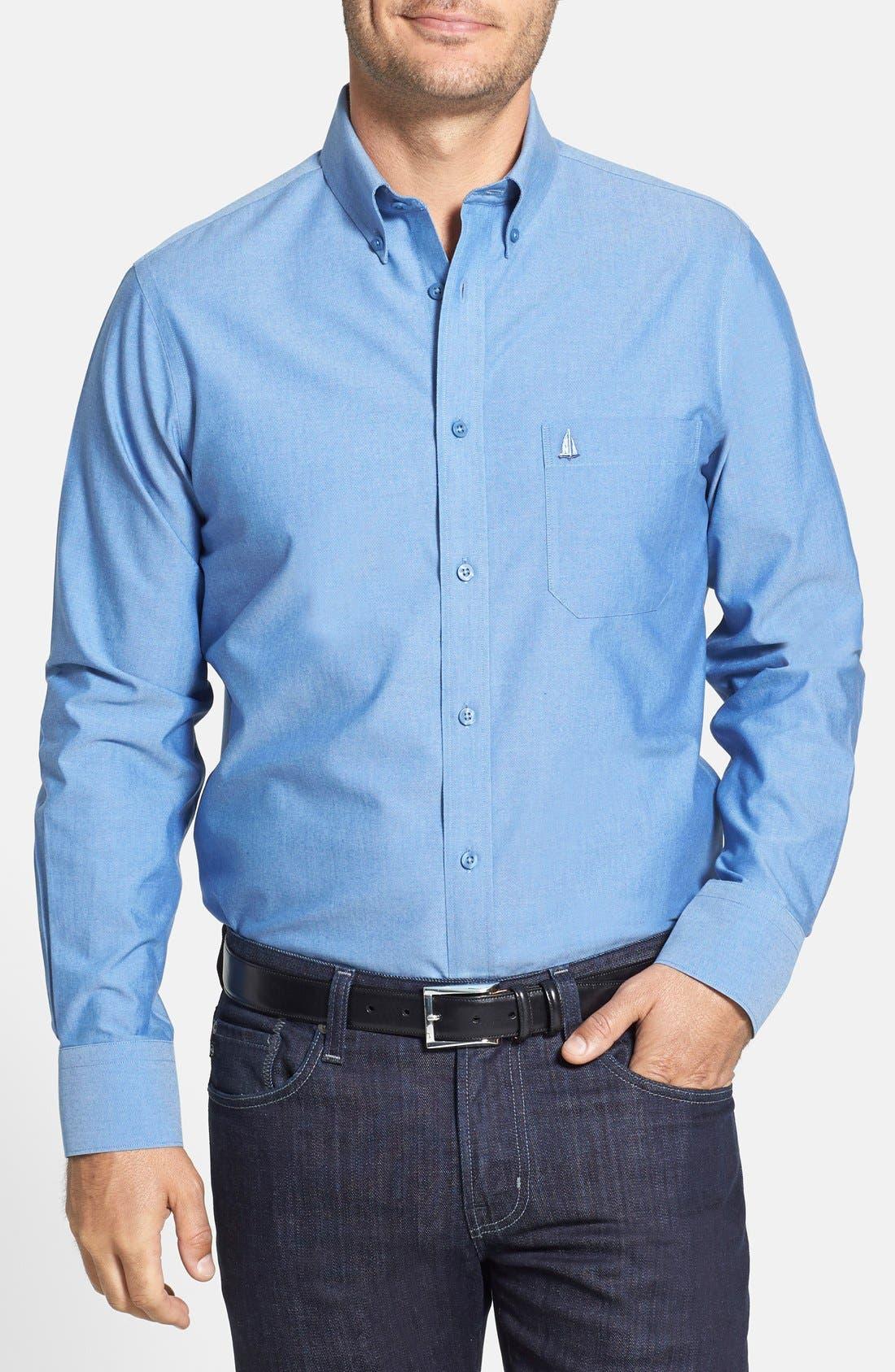 Alternate Image 1 Selected - Nordstrom Men's Shop Smartcare™ Regular Fit Oxford Sport Shirt