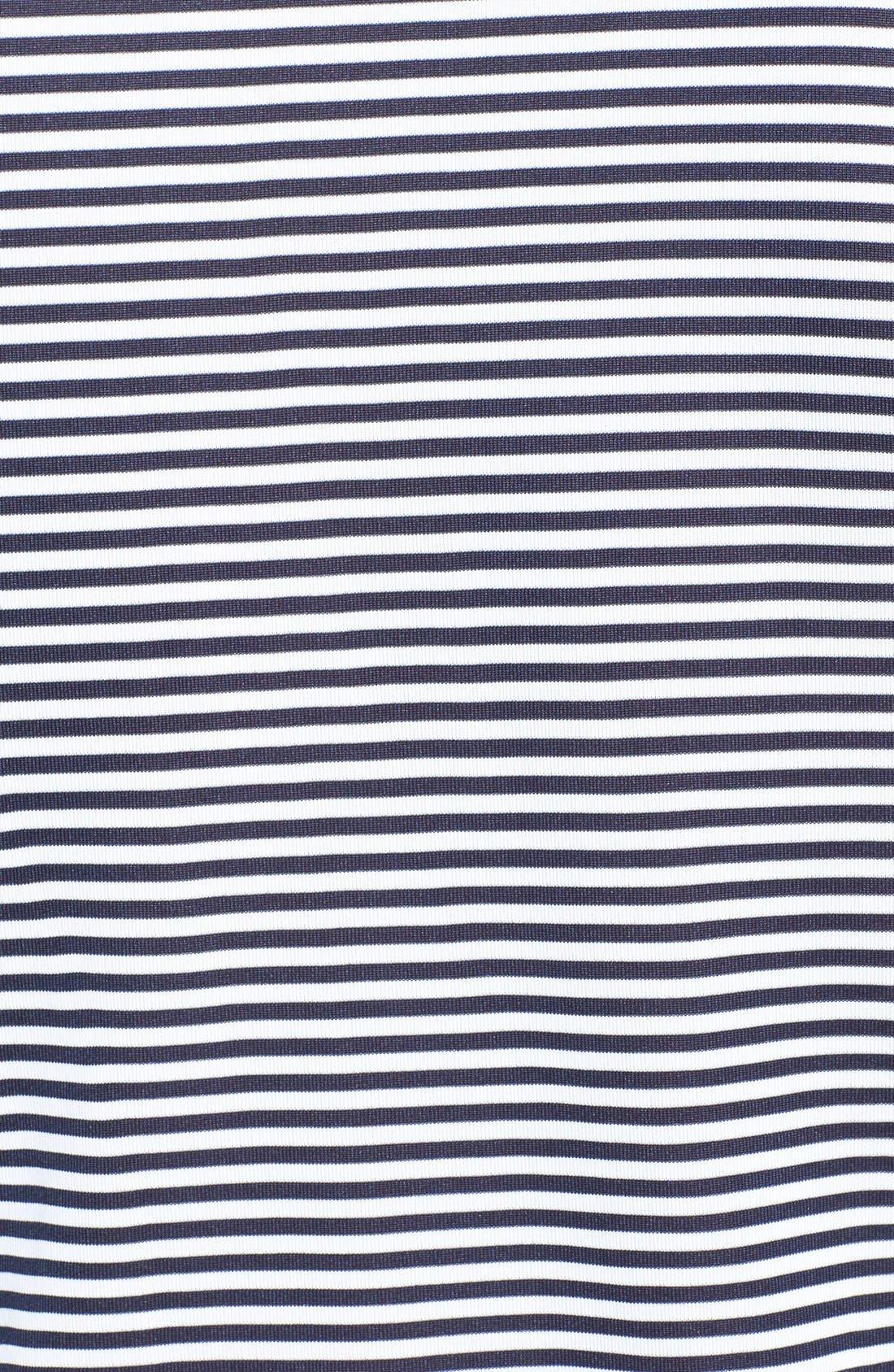Trevor Stripe DryTec Polo,                             Alternate thumbnail 3, color,                             Navy/ White