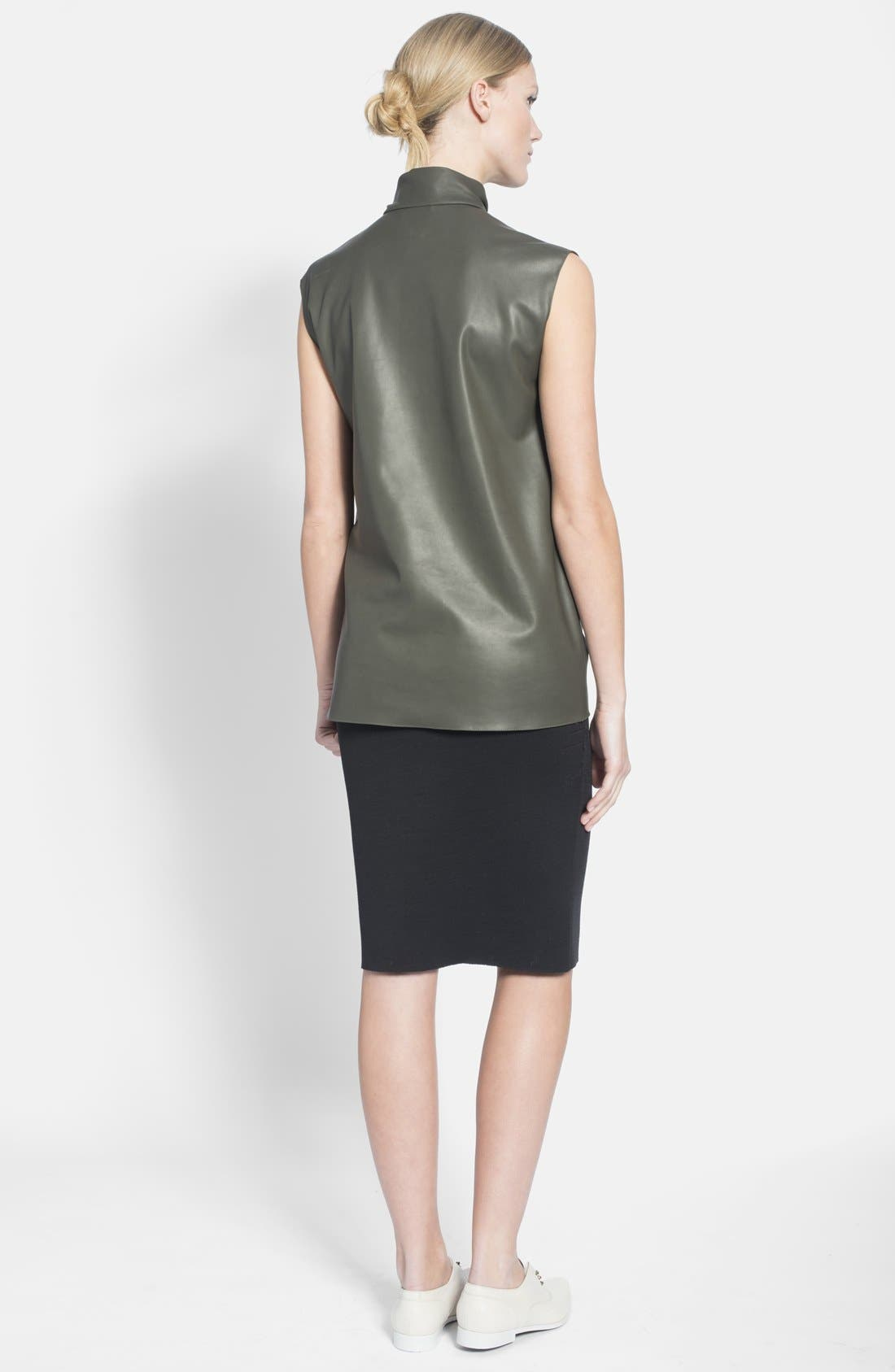 Alternate Image 2  - Lanvin Bow Detail Faux Leather Top