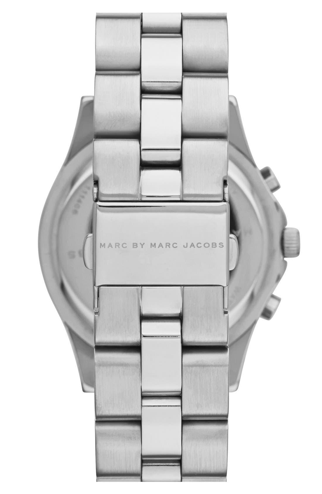 Alternate Image 2  - MARC JACOBS 'Blade' Chronograph Bracelet Watch, 40mm (Nordstrom Exclusive)