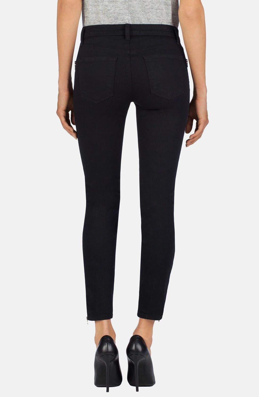 Alternate Image 2  - J Brand Ankle Zip Skinny Jeans (Vanity)