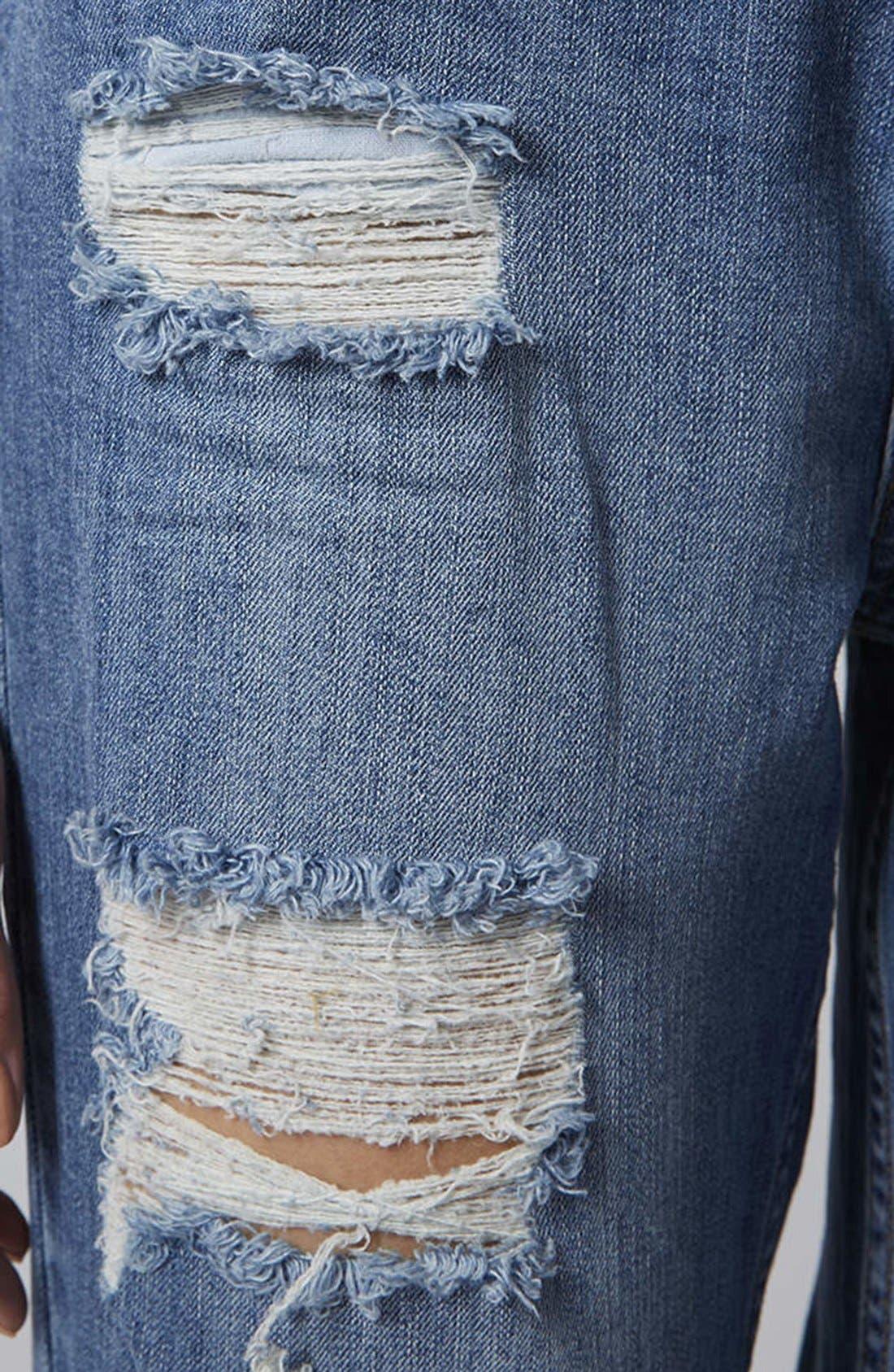 Alternate Image 3  - Topshop Moto Reclaim To Wear High Waist Tapered Jeans (Mid Denim)