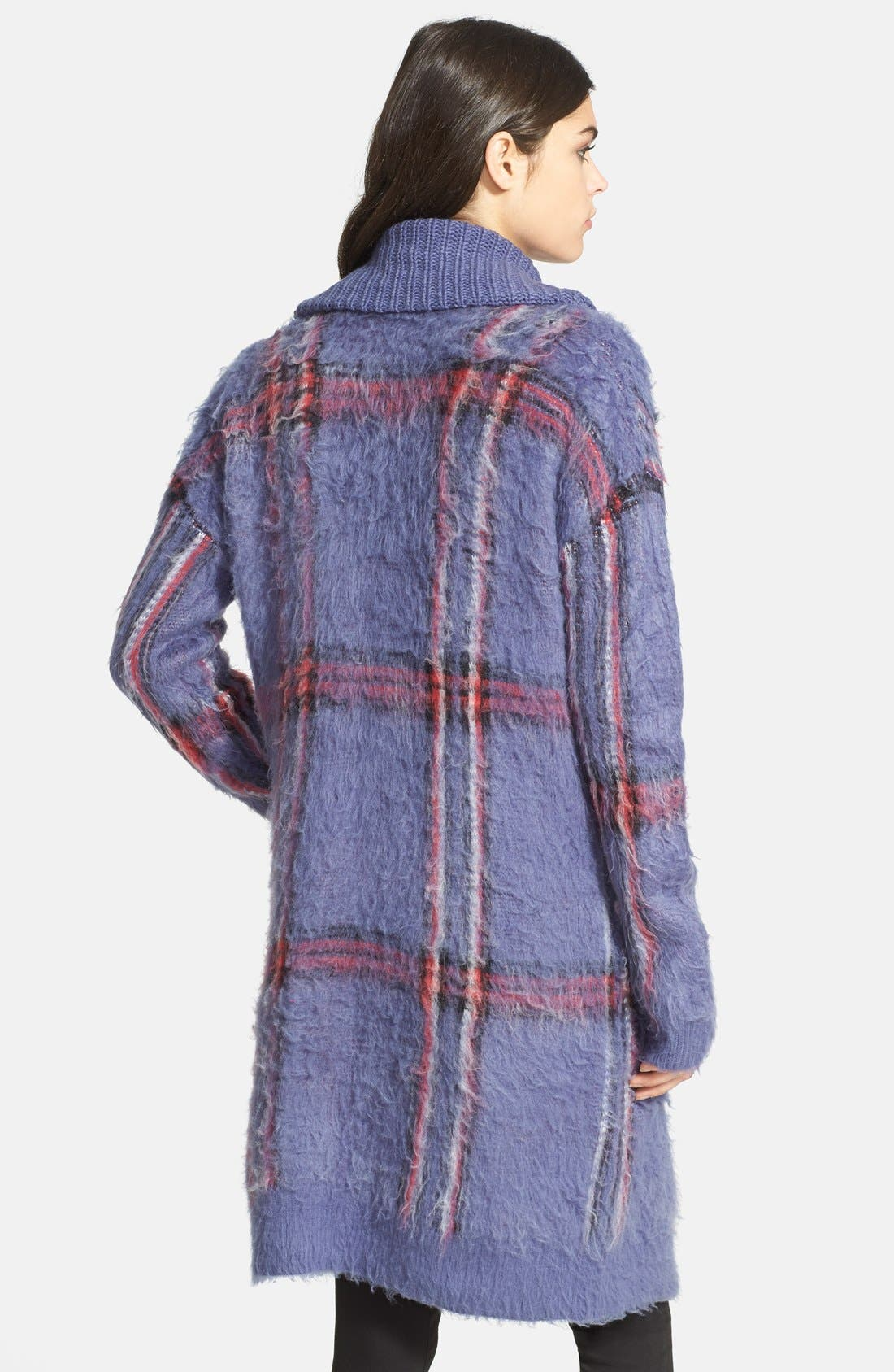 Alternate Image 2  - Chelsea28 Plaid Sweater Coat