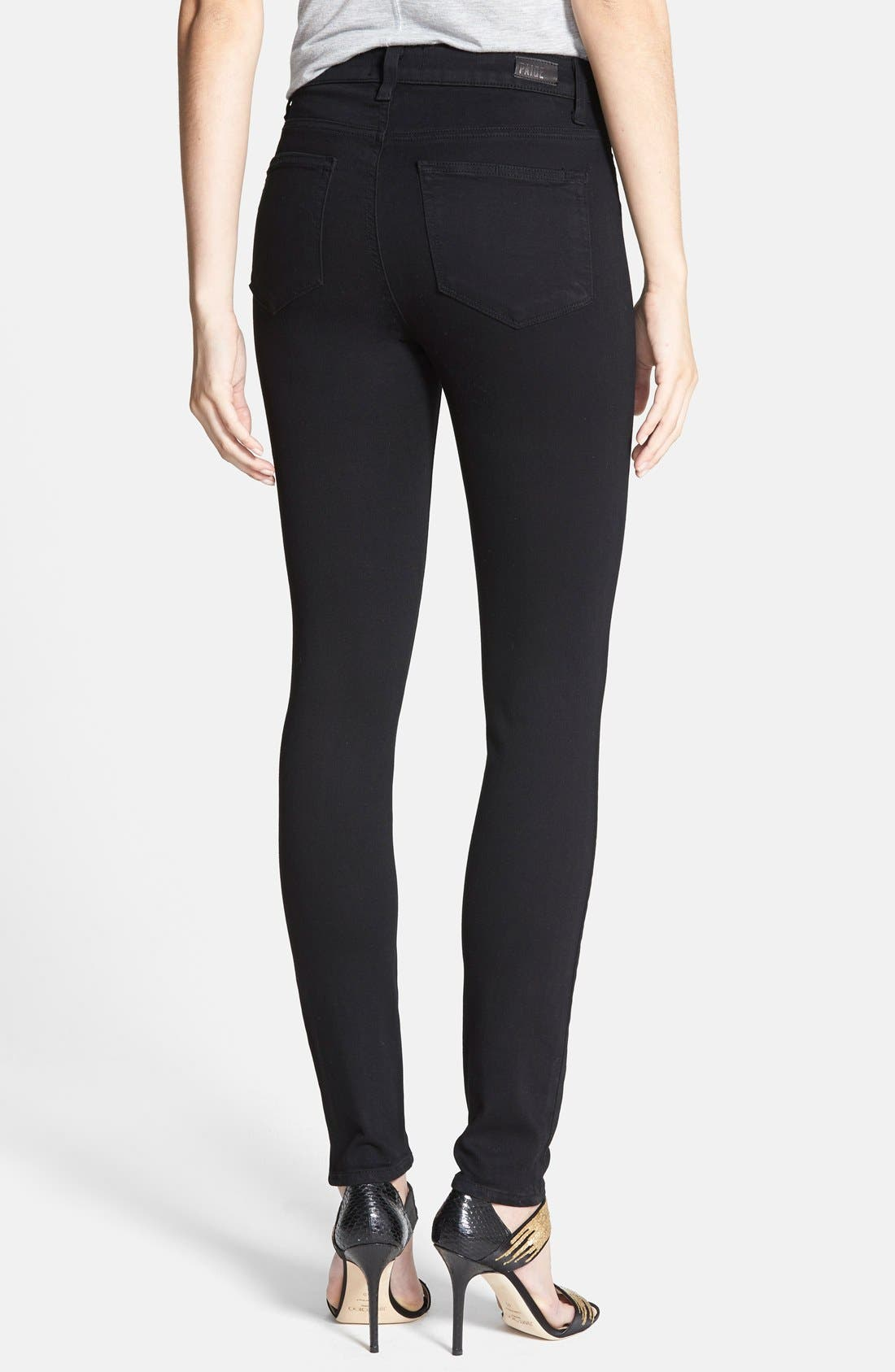 Alternate Image 2  - PAIGE Margot High Waist Ultra Skinny Jeans (Black Shadow)