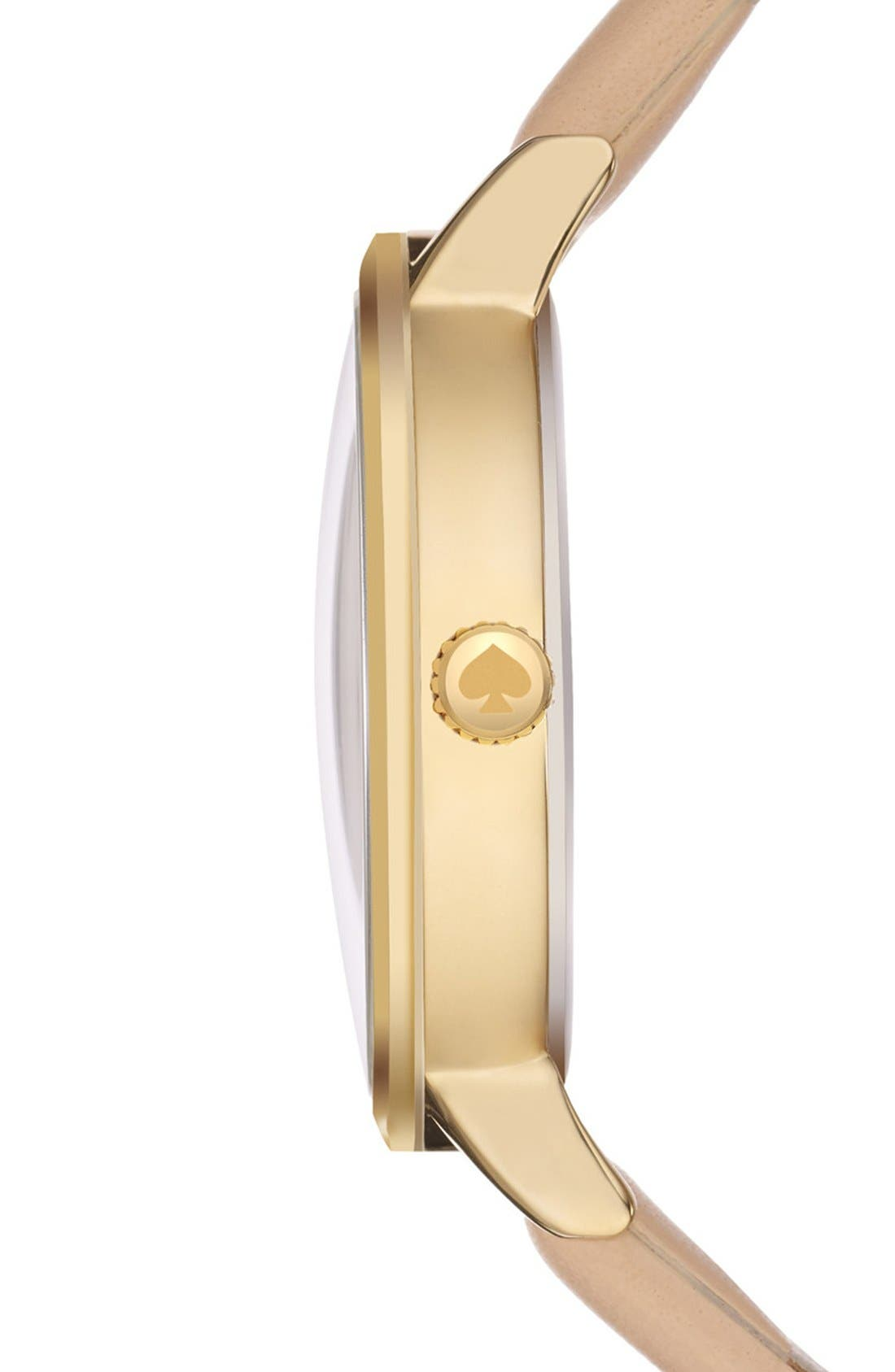 Alternate Image 3  - kate spade new york 'metro' scallop dial leather strap watch, 34mm