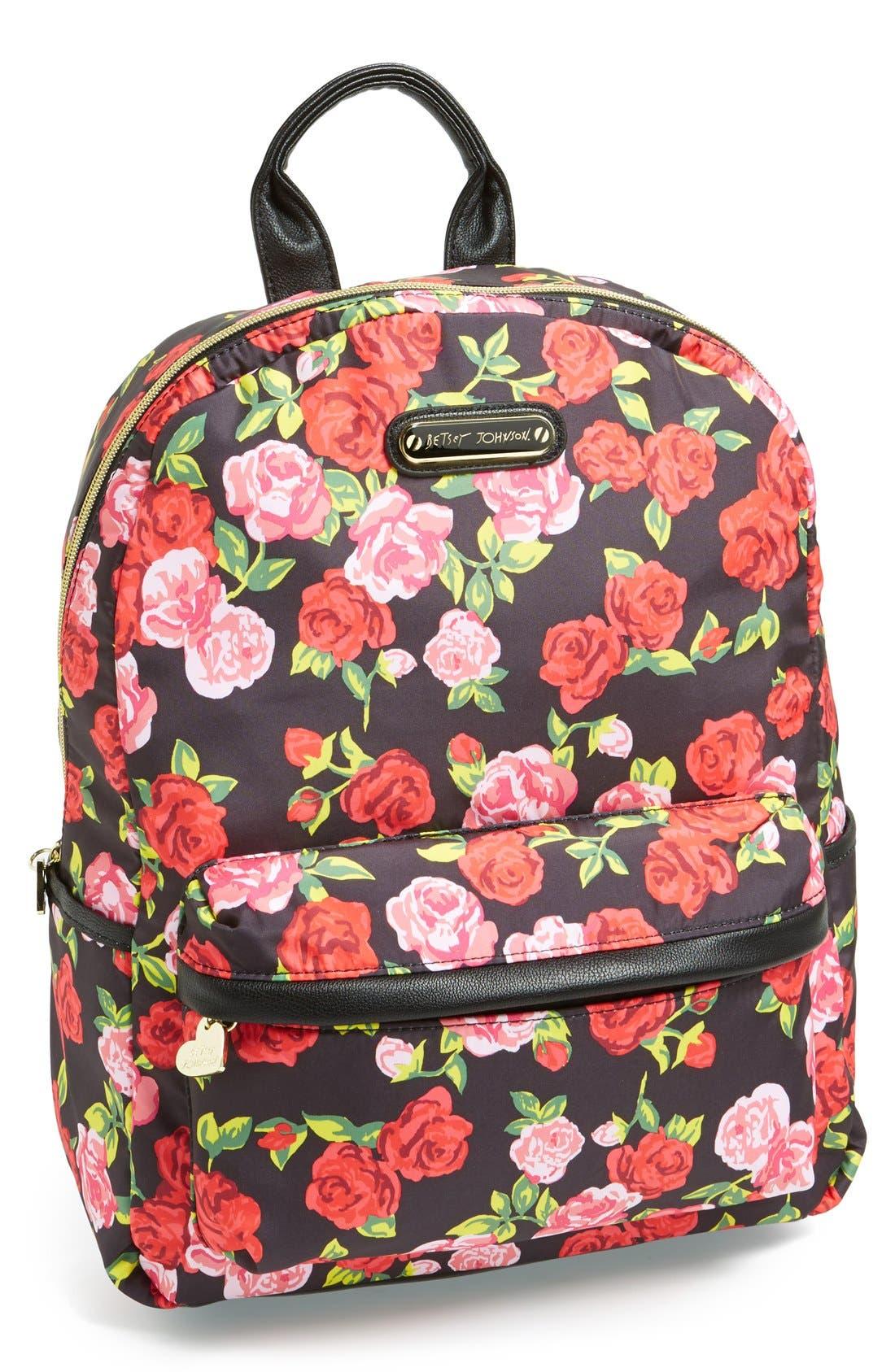 Alternate Image 1 Selected - Betsey Johnson Nylon Backpack