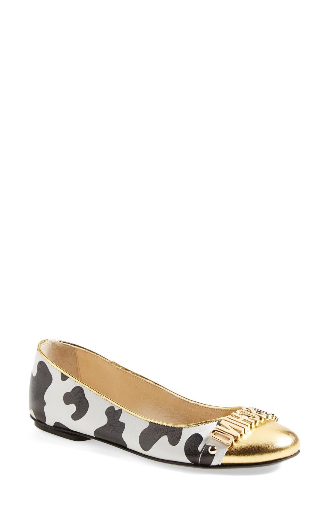 Alternate Image 1 Selected - Moschino Logo Ballet Flat (Women)
