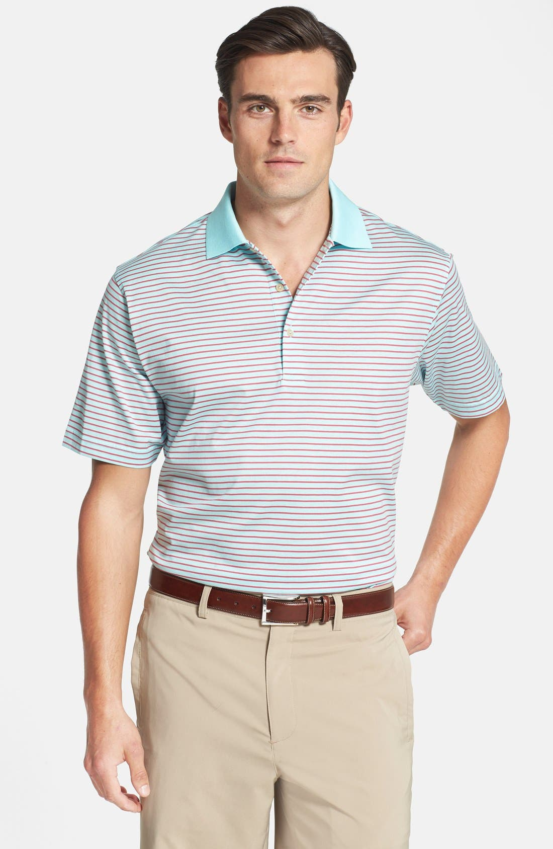 Main Image - Peter Millar 'Kilffman' Stripe Knit Polo