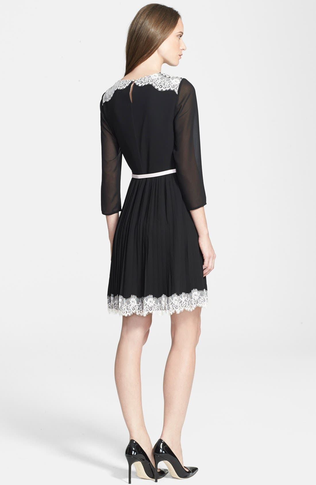 Alternate Image 2  - Ted Baker London 'Olivhia' Lace Detail A-Line Dress