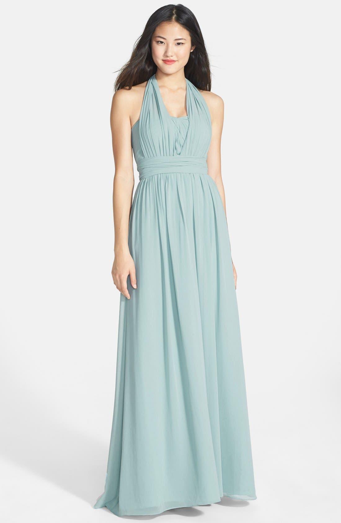 Alternate Image 6  - Jenny Yoo 'Aidan' Convertible Strapless Chiffon Gown