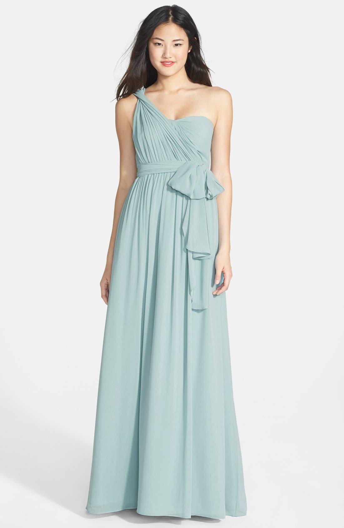 Alternate Image 7  - Jenny Yoo 'Aidan' Convertible Strapless Chiffon Gown
