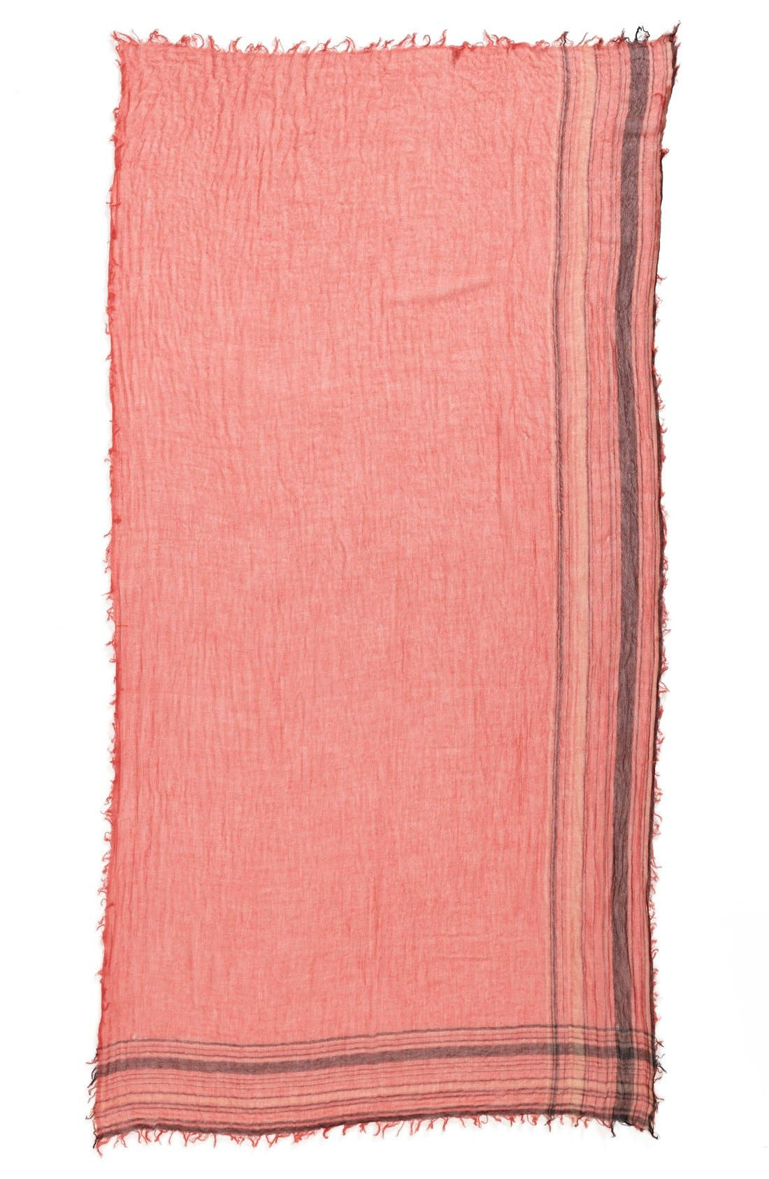 Alternate Image 2  - Halogen® Border Stripe Crinkle Cashmere Scarf