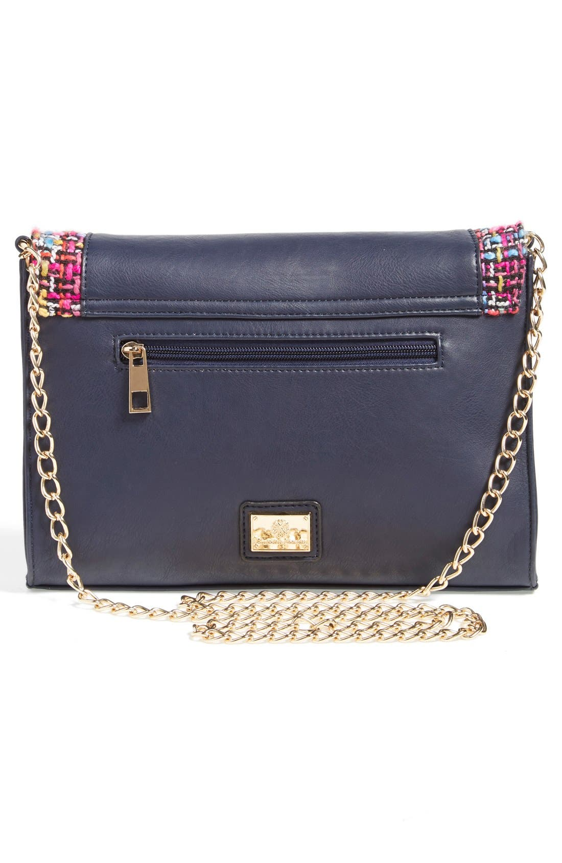 'Agnes' Clutch,                             Alternate thumbnail 4, color,                             Navy