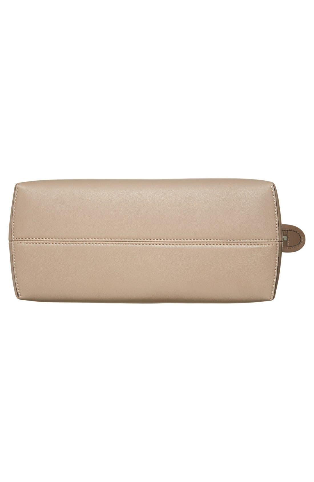 'Bauletto Piccolo' Leather Crossbody Bag,                             Alternate thumbnail 6, color,                             Turtledv Sepia Palladuim