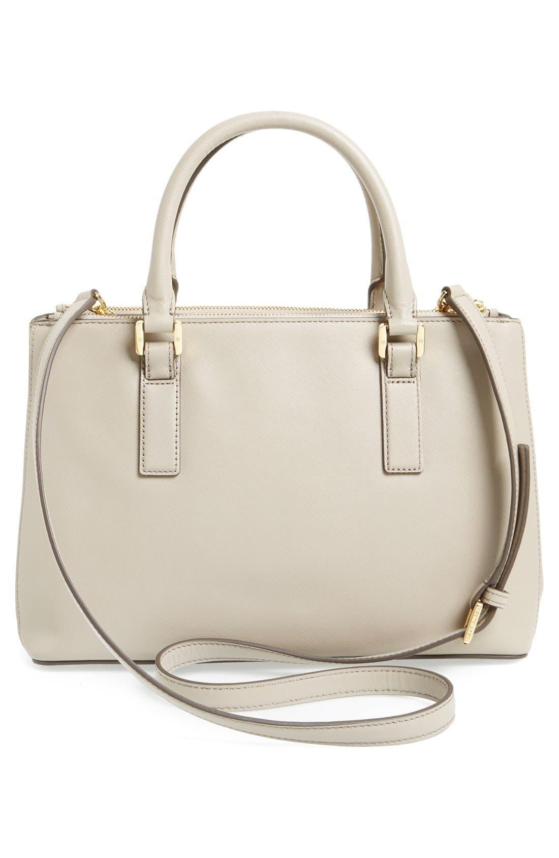 Alternate Image 4  - Tory Burch 'Robinson - Mini' Double Zip Leather Tote