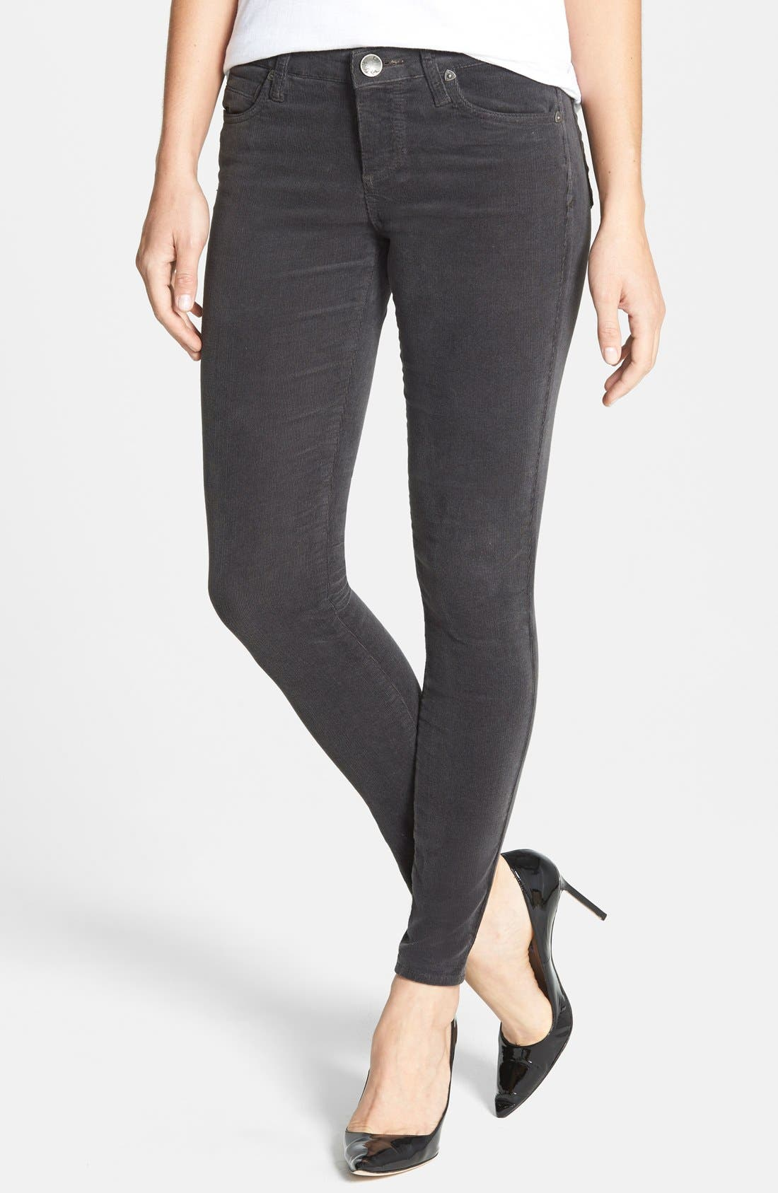 Alternate Image 1 Selected - KUT from the Kloth Diana Stretch Corduroy Skinny Pants (Regular & Petite)