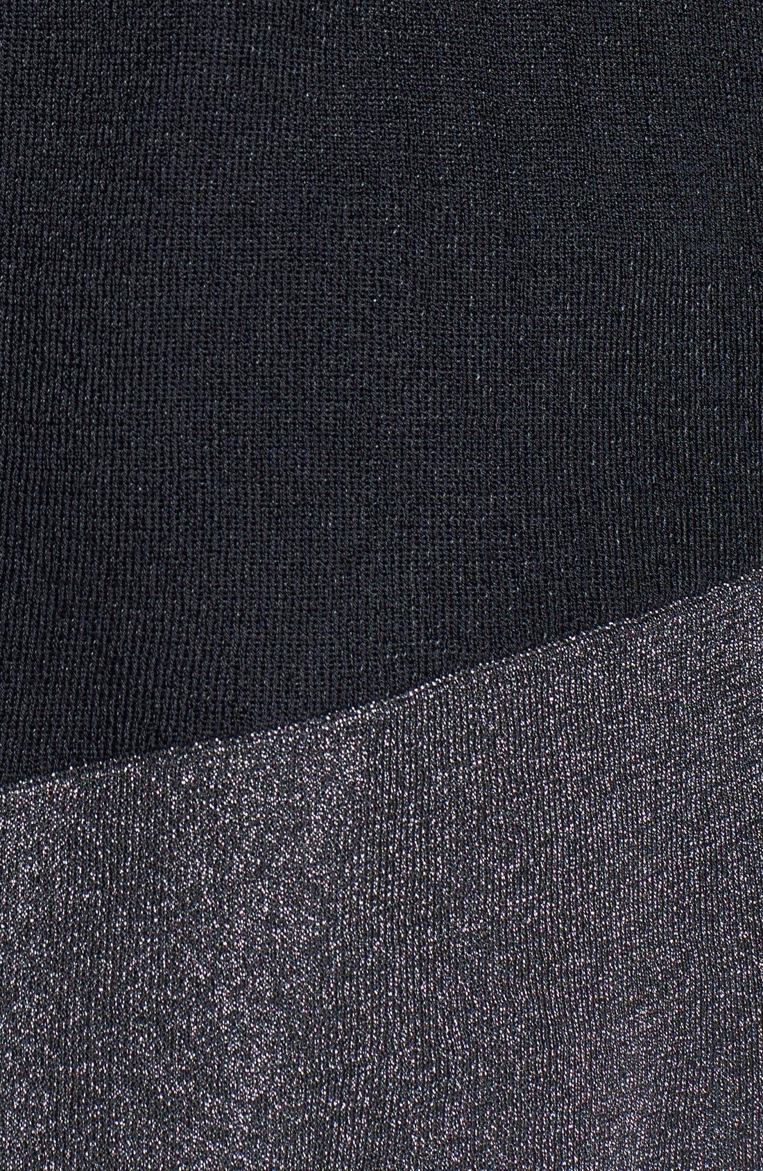 Alternate Image 3  - Eileen Fisher Metallic Border Asymmetrical Tunic