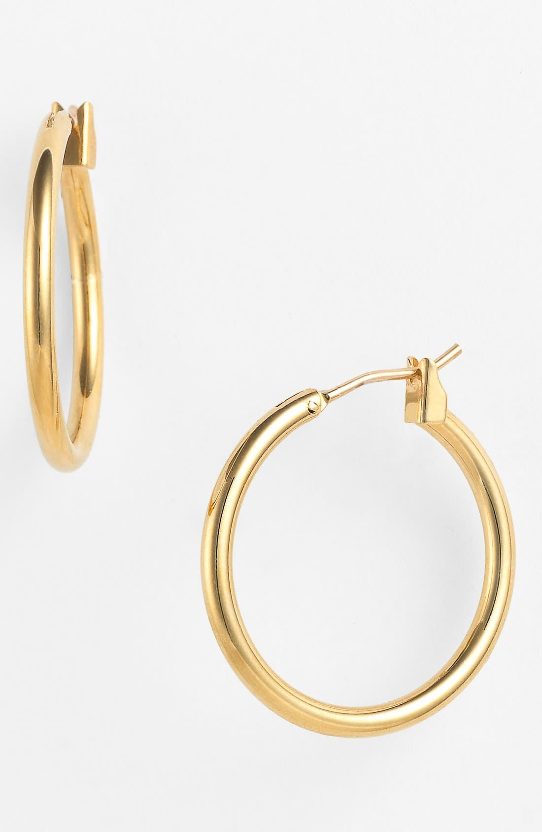 Alternate Image 1 Selected - Anne Klein Tube Hoop Earrings