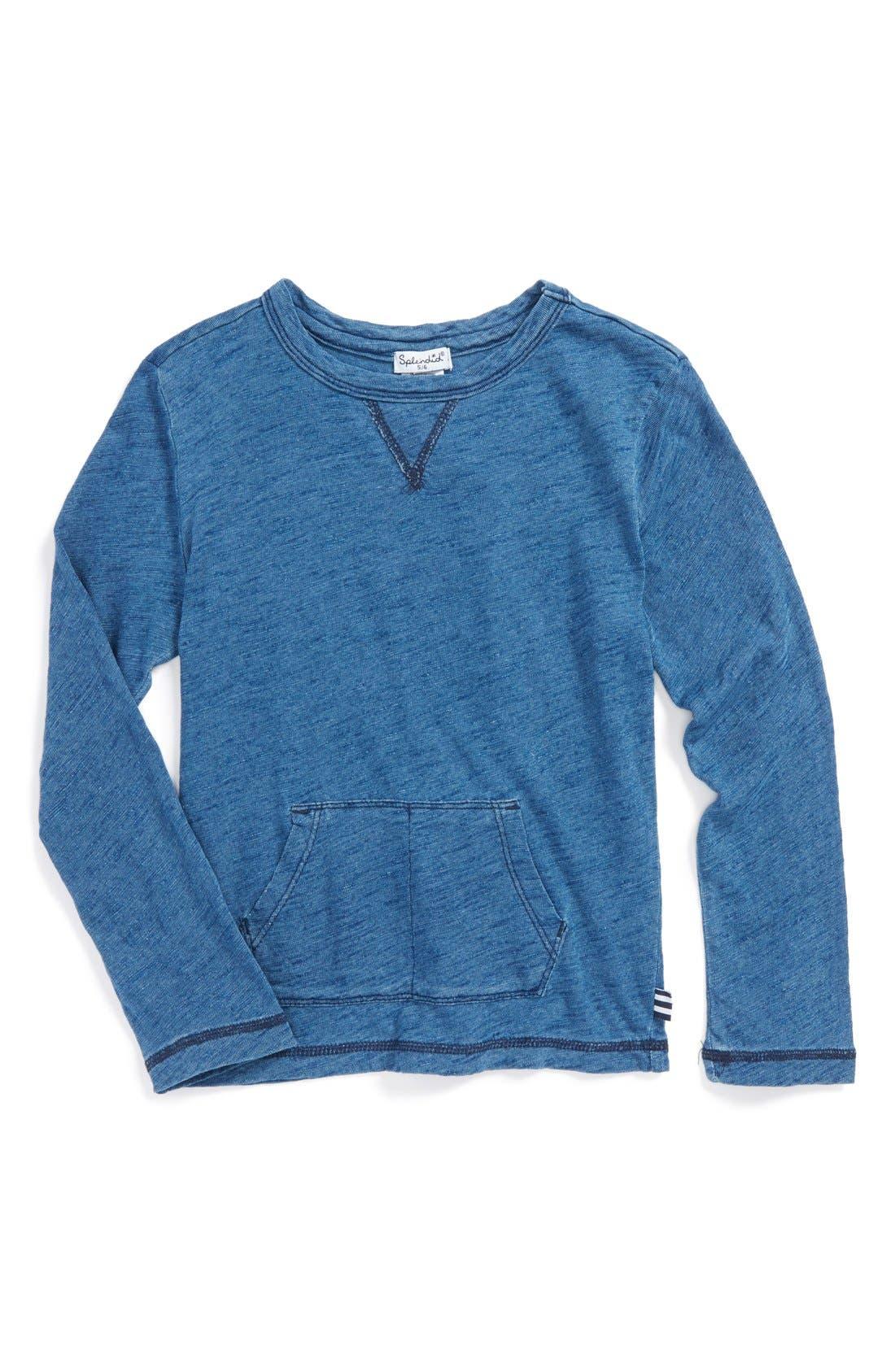 Splendid Indigo Slub Cotton Jersey Pullover (Toddler Boys & Little Boys)