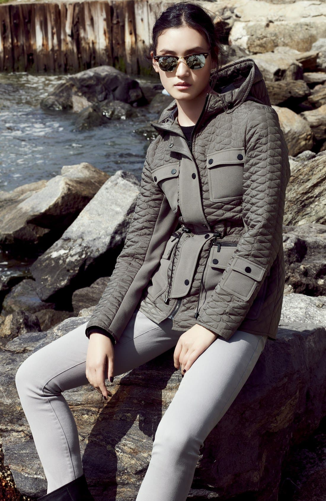 Hooded Quilted Parka,                             Alternate thumbnail 3, color,