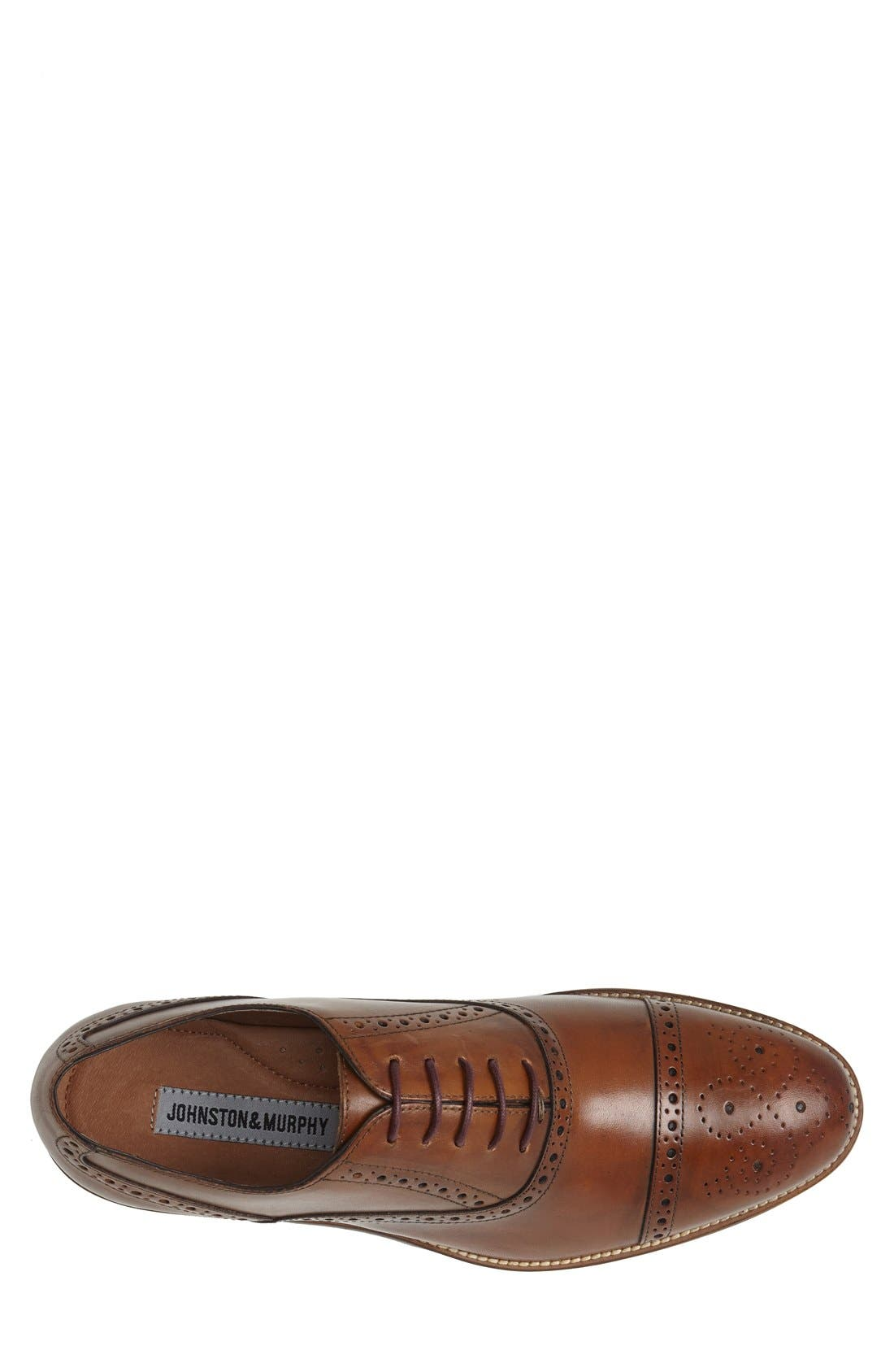 Alternate Image 3  - Johnston & Murphy Conard Cap Toe Oxford (Men)