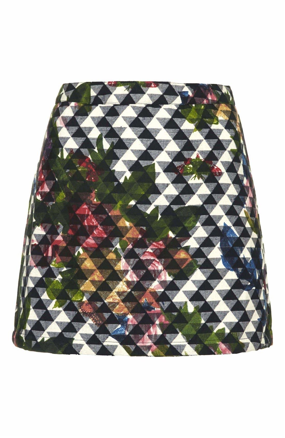 Alternate Image 3  - Topshop Floral Print Pelmet Skirt