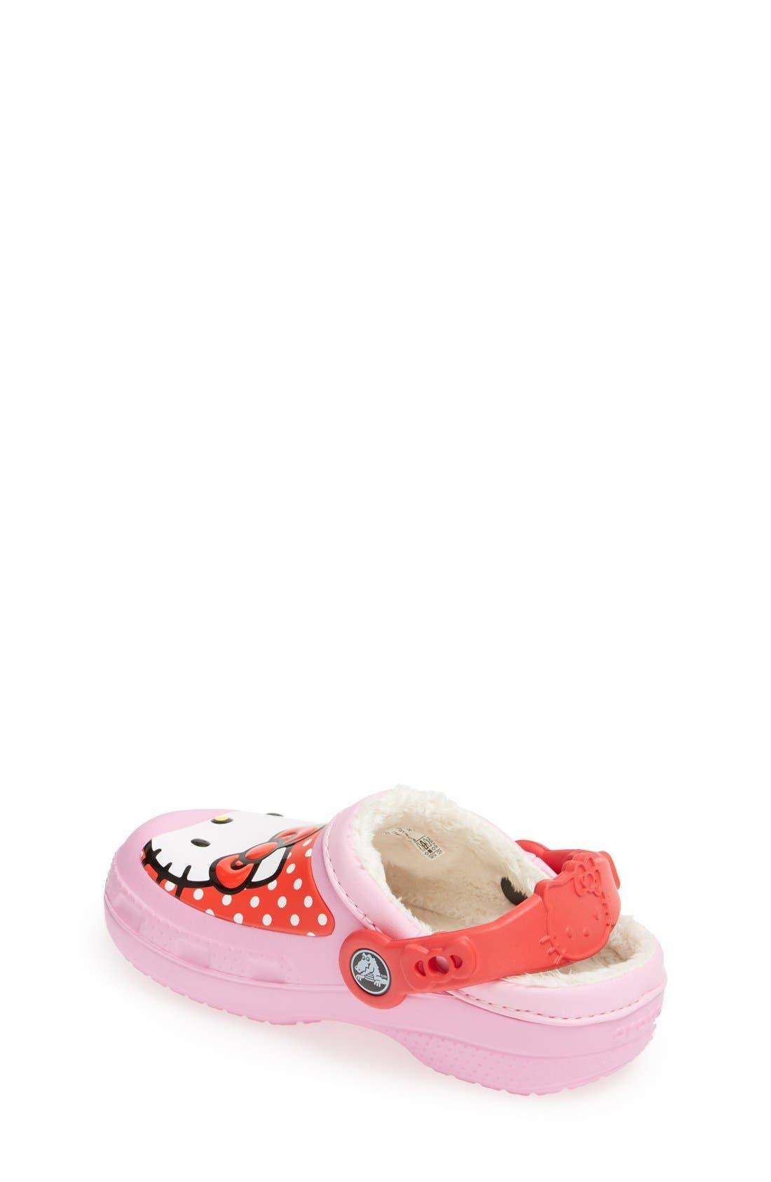 Alternate Image 2  - CROCS™ 'Hello Kitty® - Dots' Slip-On (Walker, Toddler & Little Kid)