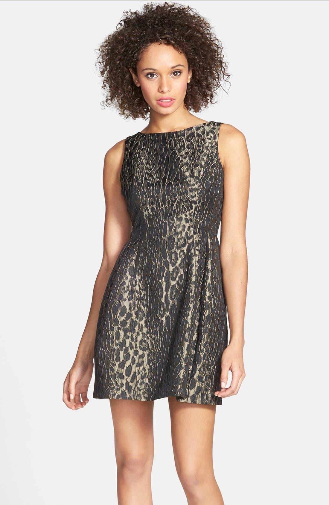 Alternate Image 1 Selected - Alexia Admor Sleeveless Jacquard Fit & Flare Dress