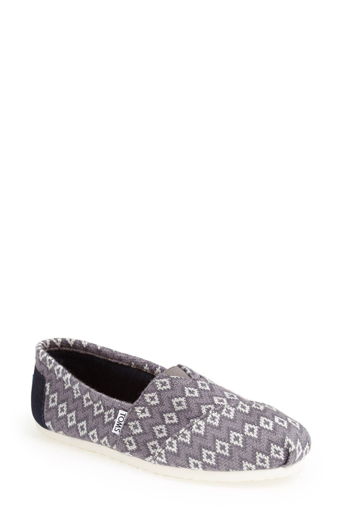 Alternate Image 1 Selected - TOMS 'Classic - Geo Knit' Slip-On (Women)