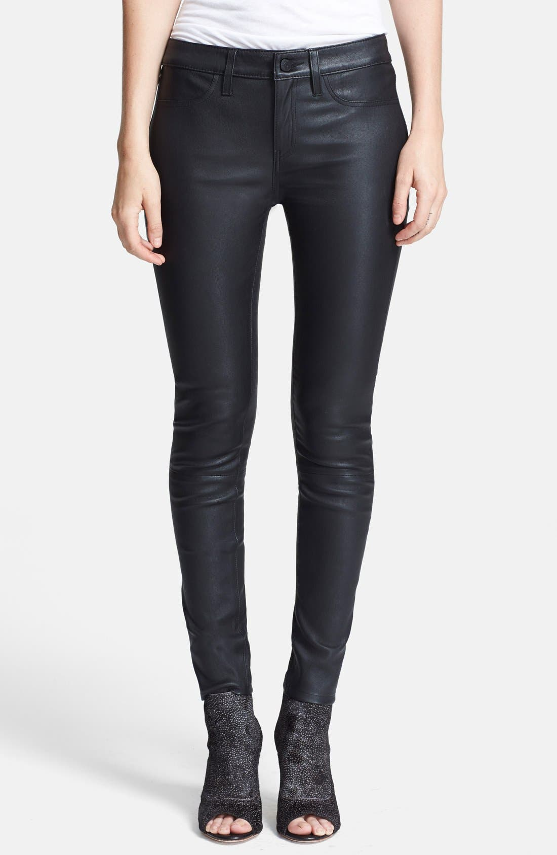 Main Image - Joie Leather Skinny Pants