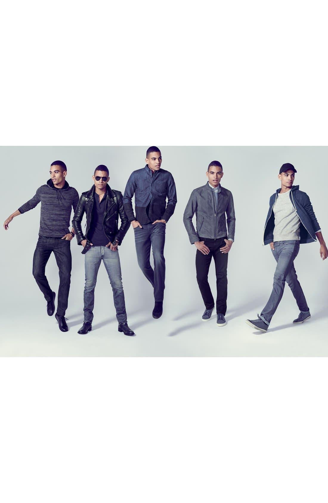 Alternate Image 6  - AG Graduate Slim Straight Leg Jeans (Blackbird)