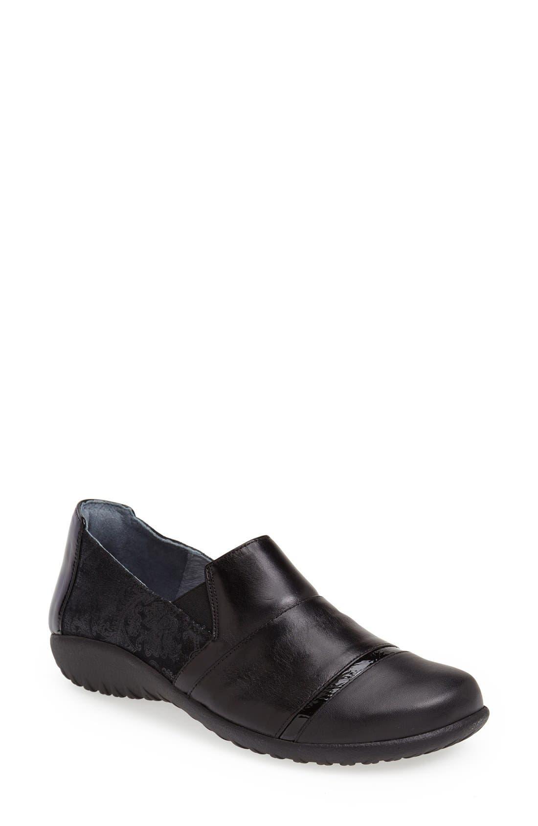 'Miro' Loafer,                             Main thumbnail 1, color,                             Black Lace