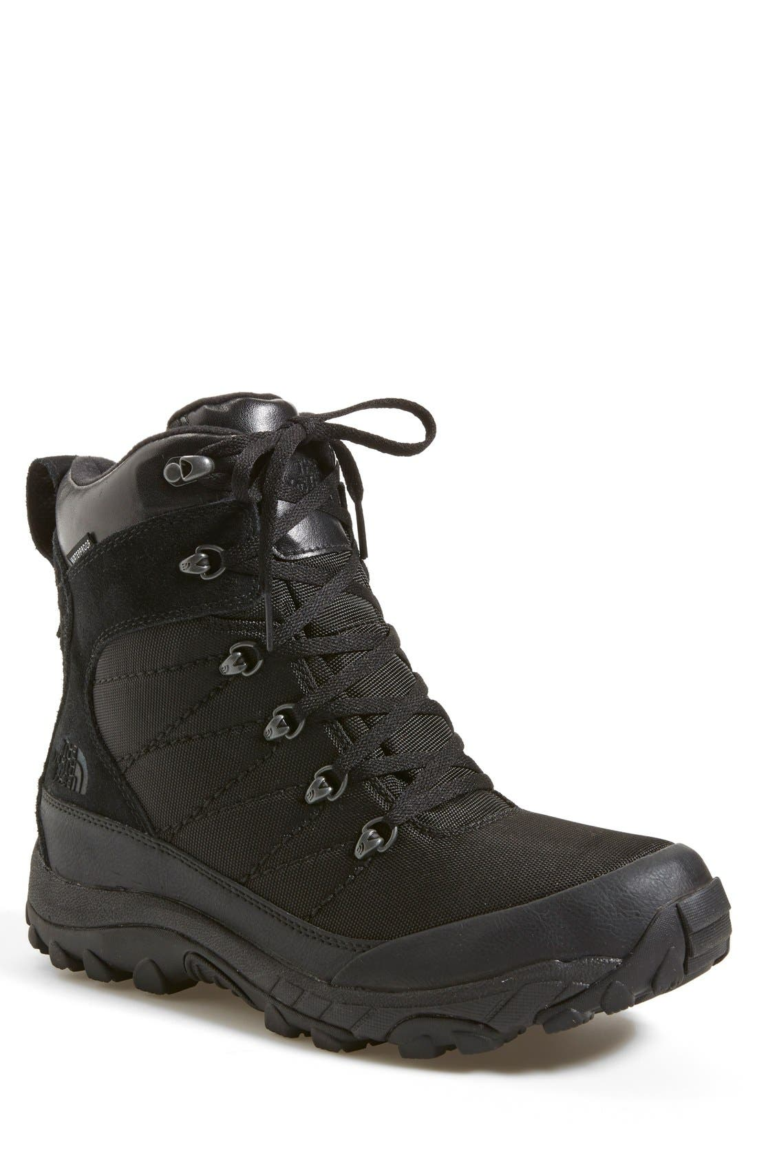 'Chilkat' Snow Boot,                             Main thumbnail 1, color,                             Tnf Black/ Tnf Black